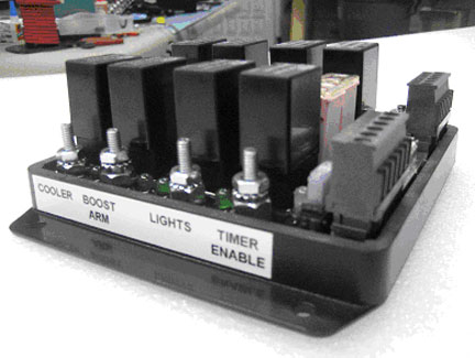 Eight Relay Controller Side View