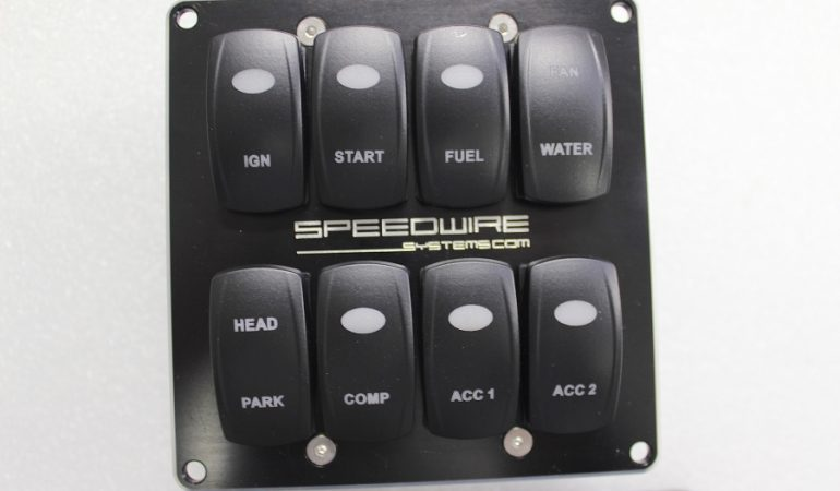 dash mount switch panel front view