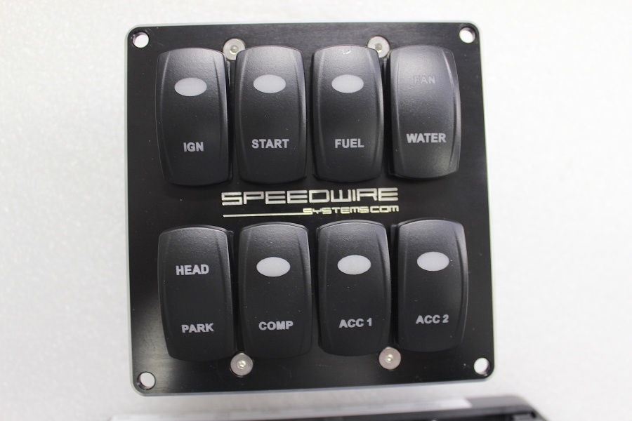 Dash Mount Switch Panel Front View Speedwire Systems