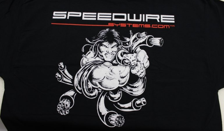 speedwire t shirt logo